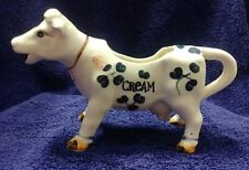 New listing Vintage Mid-century Porcelain Cow Creamer #3 Clover Decoration Made In Japan