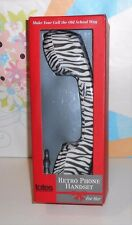 Totes For Her Retro Phone Handset Compatible with Most Devices Zebra Design NEW
