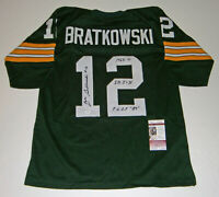 PACKERS Zeke Bratkowski signed green #12 STAT jersey JSA AUTO w/ 3 Inscriptions