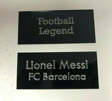 Lionel Messi Barca - 110x50mm Engraved Plaque Plate Set for Signed Memorabilia