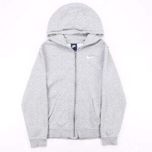 NIKE  Grey Classic Zip Up Hoodie Boys XL