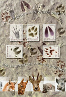 Belgium 2018 MNH Wild Animals Tracks & Traces 5v M/S Deer Foxes Squirrels Stamps
