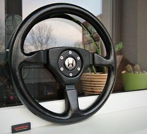 Honda Access MOMO Zagato Design Leather Steering Wheel NSX ITR CRX EE EG EK Rare