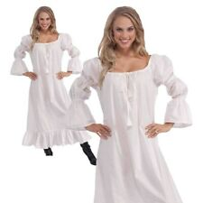 Ladies Medieval Gown Chemise Underdress Womens Fancy Dress Outfit