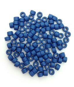 Ceramic tubes, Medium Blue, 6mm, 100 Piece, ceramic beads