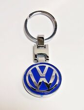 Volkswagen Blue and Silver Keychain VW key ring stainless Passat Beetle Golf