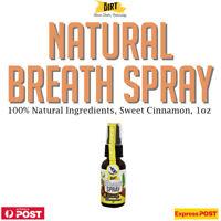 The Dirt Breath Spray Sweet Cinnamon 1oz All Natural, Alcohol Sugar Free Onnit