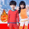 6527 Winter Kids Children Thermal Underwear Sets Boys Fleece Warm Suits Outfits