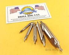 Center Drill Countersink Pilot Bit Set Lathe Mill 5Pc Lifetime Warranty US MADE