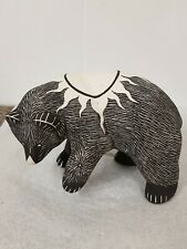 More details for native american sgraffito sun bear figurine lawrence chavez acoma pueblo nm