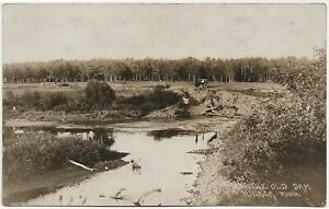 View of the Old Dam at Milaca MN RP Postcard
