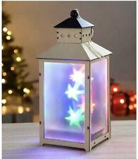 Christmas Pre-lit Wooden Lantern Star Effect LED Lights 26 cm colour change