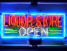 "New Liquor Store Open Beer Bar Neon Light Sign 24""x20"""