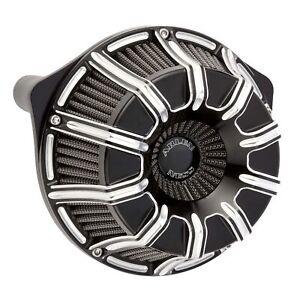Arlen Ness Black 10 Gauge Inverted Stage 1 Air Cleaner Harley Milwaukee 8 17-19