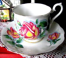 Royal Albert Anne Teacup & Saucer Hampton Large Pink Sweetheart Rose Tea Cup Set