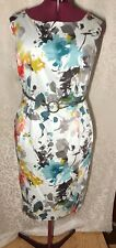 Pencil floral dress watercolor multicolor Evan Picone women's size 22