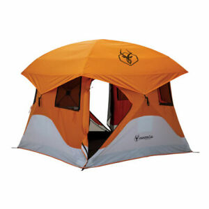 New Gazelle 4-Person 61 sq ft 90 Seconds Pop-Up Tent Orange/Gray