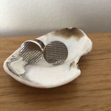 Silver Enigma Cufflinks Made in Italy