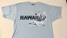 """Vintage 70's/80's Sneakers """"Whip Um!"""" Tee Light Blue Hawaii Dolphins L T-shirt"""