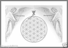 Energie Bild - Schwingungsbild - Die Blume des Lebens mit Erzengel Gabriel