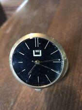 Vintage Mechanical Brass Watch Clock Swiss Made 1960`/ 70s Spotlight Desk Rare