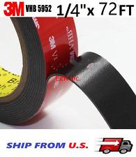 Genuine 3M VHB  #5952 Double Sided Acrylic Foam Adhesives Tape  1/4