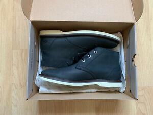 Lacoste Sherbrooke hi 116 1 Cam Leather Mens Boot Size 7 black