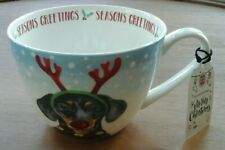 New listing Portobello by Design Large Dachshund Dog Christmas Coffee Mug Cup with Gift Tag
