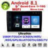 "9""HD 1080P Android 8.1 2Din Car Stereo Radio GPS Wifi BT DAB Mirror Link OBD"