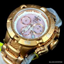 Lady Invicta Subaqua Noma V Swiss Made Chrono Rose Gold Plated Pink MOP 42mm New