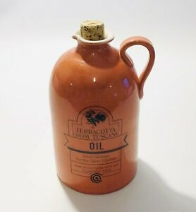 Terracotta From Tuscany Oil Ceramic Jug With Stopper Serving Tableware