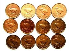 More details for george vi farthings 12 date run from 1939-1950 all with lustre different tonning