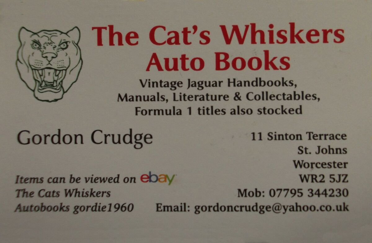 THE CATS WHISKERS-AUTOBOOKS
