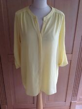 WALLIS SUNSHINE YELLOW LOOSE FITTED LONG TOP UK SIZE M (12-14) WORN LIGHT MARK