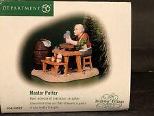 """(1) Department 56 Heritage Dickens Vilage #56.58527 """"Master Potter"""""""