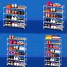 Metal Shoe Rack Storage Organizer Cabinet Metal Holder Stackable Closet2~7 Tiers