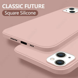 For iPhone 13 12 Pro Max Mini Shockproof Liquid Silicone Soft Phone Case Cover