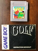 Golf Cartridge w/ Manual (Nintendo Game Boy, 1990) GB Tested Works