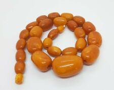 96.5 Grams Antique Natural Baltic Kahraman Amber Beads Necklace.