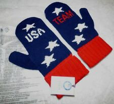 GO USA new with tags Olympic patriotic blue Mittens gloves collectors