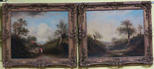 pair of oils on canvas, representing a landscape, circle of A.W. Callcott