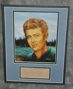 James Dean Matted Display With A Pre-Printed Copy of Original Signature #2