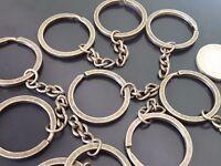 De 10 a 150 Anillas llaveros de metal 30mm BRONCE con cadena pulseras llavero
