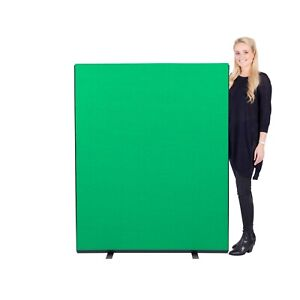 Office Screen Divider Partition 1200mm W x 1500mm H Green Nyloop