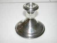 Beautiful Antique Sterling Silver Candle Holder With Weighted Base