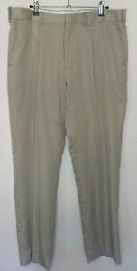Cutter & Buck Mens Size 92 Dress Pants Golf Trousers Beige Cotton Zip Fly