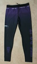 93brand Jits Do It Spats Mens Xl Purple and Black Pre-owned Bjj Jiu Jitsu