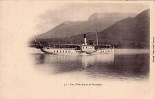 ANNECY 13 lac d'annecy et le parmelan bateau roues à aube photo-éd pittier