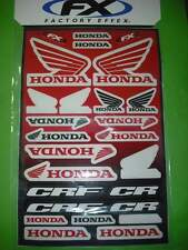 - Honda CR CRF  FX Aufkleber Set  Sticker Label Aufkleberbogen