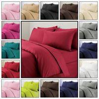 Plain Duvet Cover with Pillow Case Quilt Cover Bed Set Single Double King Size